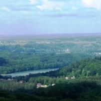 Widok z wieży na Ostrzyce