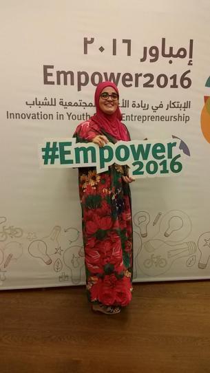 Na konferelcji Empower2016 w Doha, Katar.