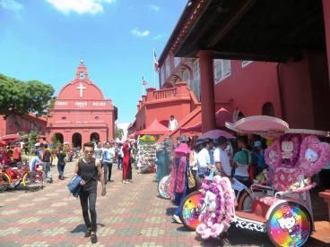 Melaka i moje ulubione riksze z Hello Kitty, czyli najbardziej azjatycka rzecz jaką widziałam na tym kontynencie!